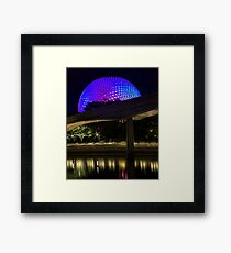 Epcot At Night Framed Print