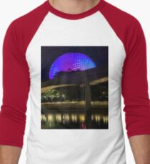 Epcot At Night Men's Baseball ¾ T-Shirt