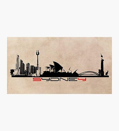 Sydney skyline city Photographic Print