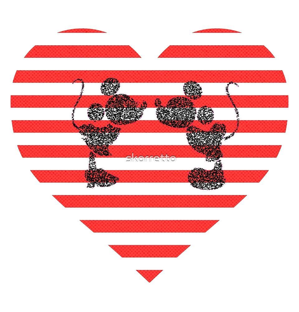 Striped Heart by skorretto