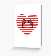 Striped Heart Greeting Card