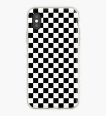 Check pattern. Checkered pattern. Black and white check pattern. Checkerboard. Chessboard. iPhone Case