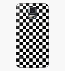 Check pattern. Checkered pattern. Black and white check pattern. Checkerboard. Chessboard. Case/Skin for Samsung Galaxy