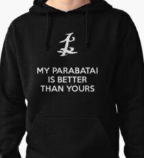 Sudadera con capucha Mi Parabatai es mejor que el tuyo (BLANCO)