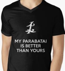 My Parabatai is better than yours (WHITE) Men's V-Neck T-Shirt