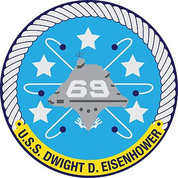 USS Dwight D. Eisenhower (CVN-69) Navy Patch by shortsleeve