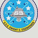 USS Dwight D. Eisenhower (CVN-69) Navy Patch by shortsleeve