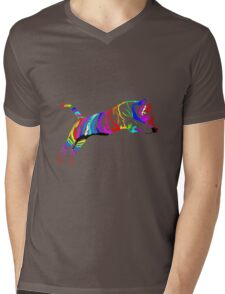 colored tiger Mens V-Neck T-Shirt