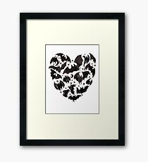Bat Heart Framed Print