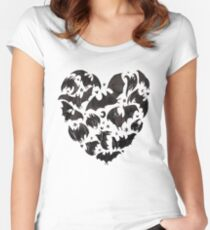 Bat Heart Women's Fitted Scoop T-Shirt