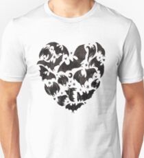 Fledermaus Herz Unisex T-Shirt