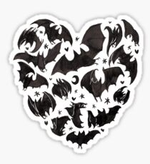 Bat Heart Sticker