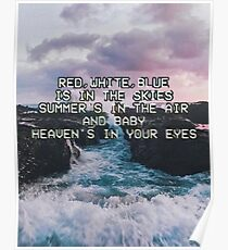 Lana Del Rey Lyrics Poster