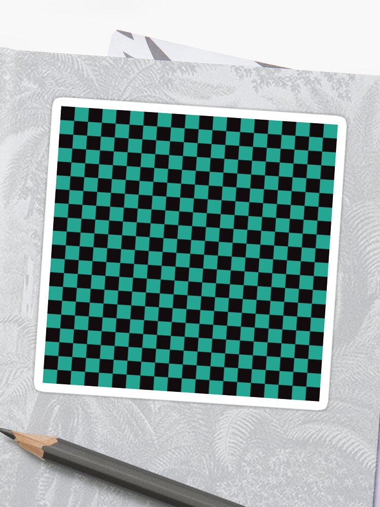 f0dc19641 Minimalist check pattern. checkered square, Green and black. Checkered  pattern. Stickers