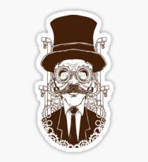 Steampunk man Sticker