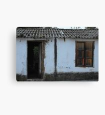 Old House With Shuttered Window Canvas Print