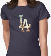 LA Dodgers 4 Womens Fitted T-Shirt