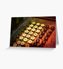 Antique Adding Machine Keys - photography Greeting Card