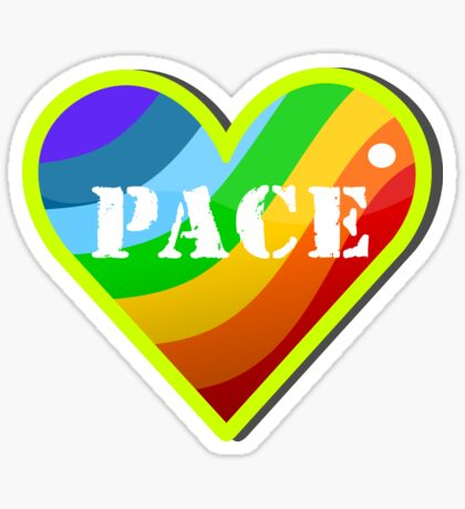Peace Rainbow Heart VRS2 Sticker