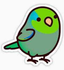 Chubby Green Parrotet Sticker