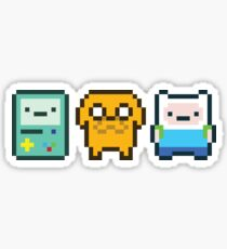 8-bit Jake Finn & Beemo Sticker