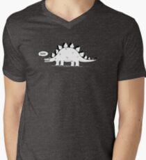 Cartoon Stegosaurus Men's V-Neck T-Shirt