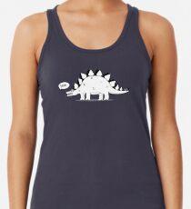 Cartoon Stegosaurus Racerback Tank Top