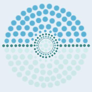 Glaceon Pokeball by 8-Bit-Wonder