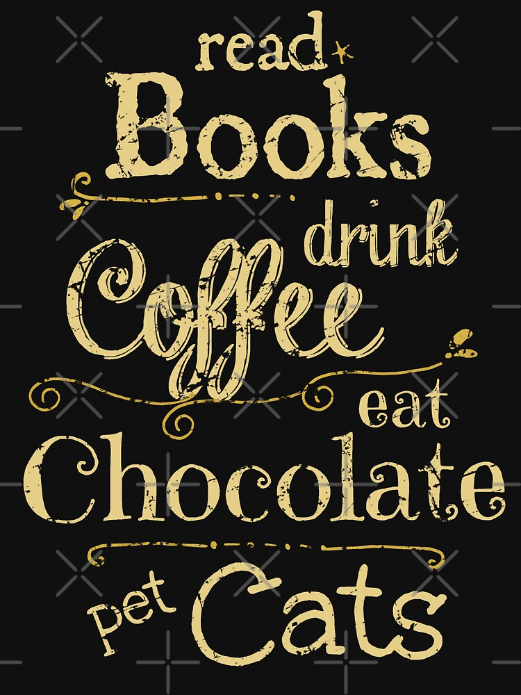 leer libros, tomar café, comer chocolate, gatos domésticos de FandomizedRose