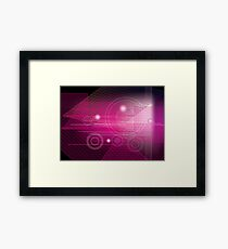 Abstract geometric background Framed Print