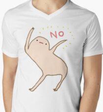 Ehrlicher Blob sagt Nein T-Shirt mit V-Ausschnitt für Männer
