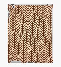 Seamless black and white leaf pattern iPad Case/Skin