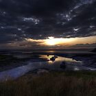 Sunset Over Clevedon Estuary by Nigel Bangert