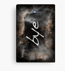 Bye...British Phone Box in Space Canvas Print