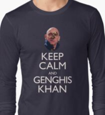 Keep Calm and Genghis Khan Long Sleeve T-Shirt