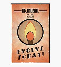 Bioshock Plasmid Poster Incinerate Photographic Print