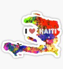 Pegatina Amo a Haití