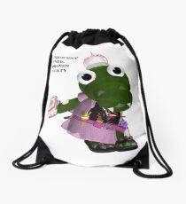 Daisy Gator. Innocent until proven guilty Drawstring Bag