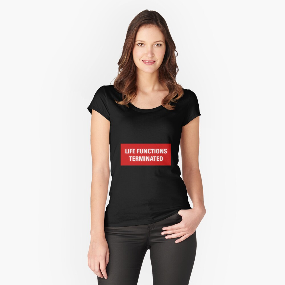 2001 A Space Odyssey - HAL 9000 Life Functions Terminated Error | Fitted  Scoop T-Shirt