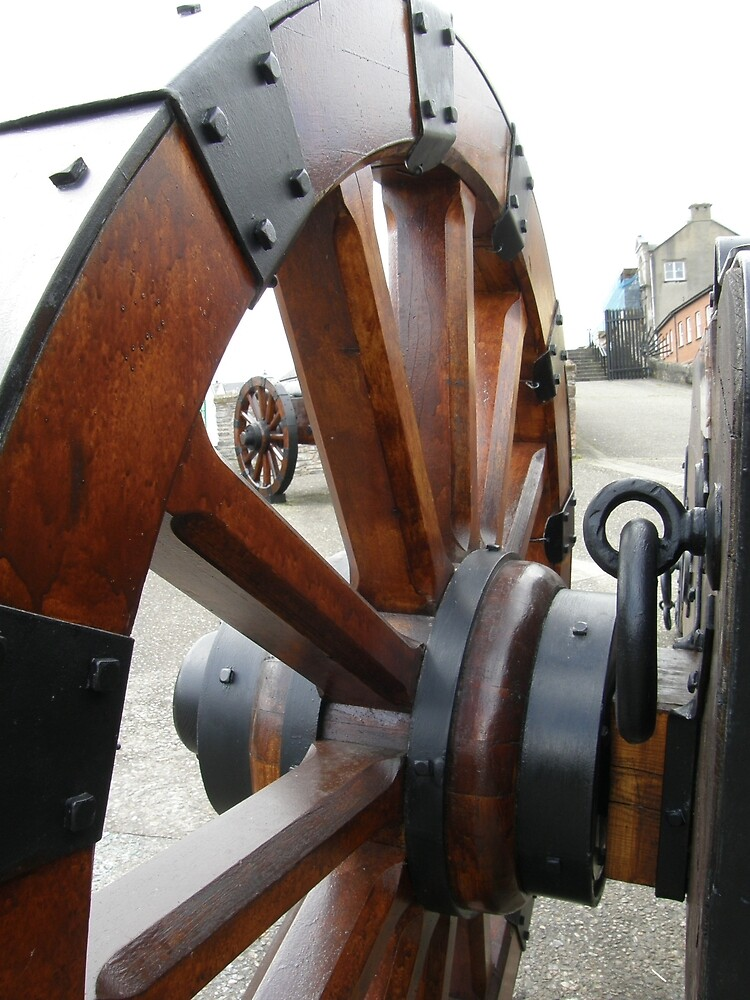 Cannon wheels - Derry Ireland  by mikequigley