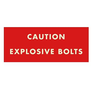 2001 A Space Odyssey - Caution Explosive Bolts by youtubedesign