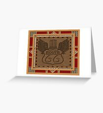 Route 66 america highway USA historic Greeting Card