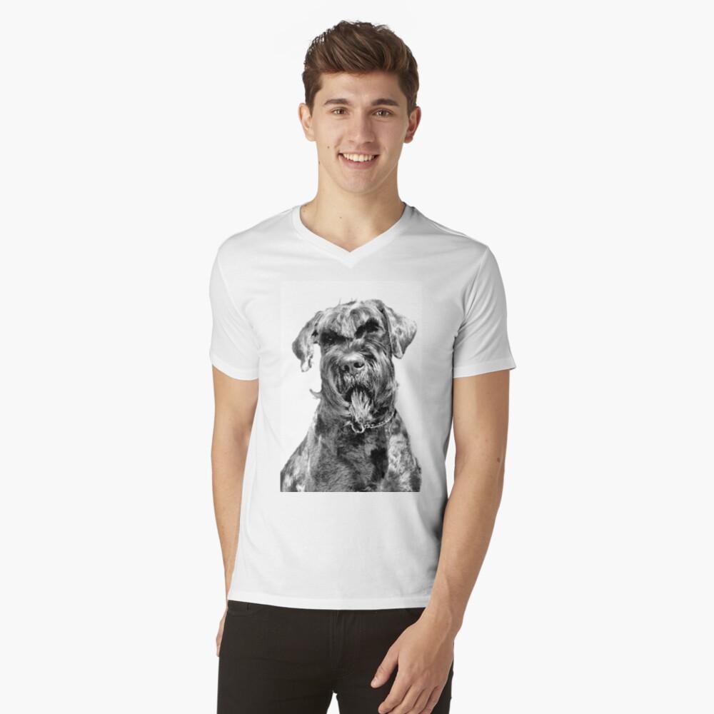 Giant Schnauzer V-Neck T-Shirt