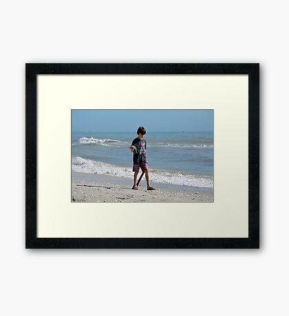 Beatles Boy with Starfish Framed Print