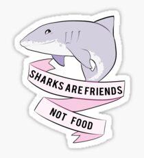 Sharks Are Friends - Not Food Sticker