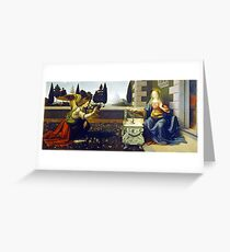 Leonardo da Vinci Annunciation Greeting Card
