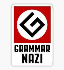 Grammar Nazi Sticker