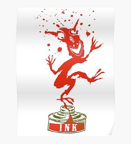 Red Ink Bottle Imp Poster