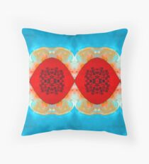 Blue Lagoon By Stephanie Burns Throw Pillow