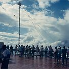 Cruise Ship, Clouds, Panama Canal by lenspiro